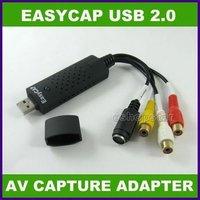 Promotion Sale!!! 2012 New High Quality  1Pcs USB 2.0 TV DVD Audio Video S-video AV EasyCap Adapter+Wholesale +FreeShipping