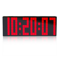 Free Shipping Big Led Digital Clock  with  Snooze Alarm Calendar Temperature.