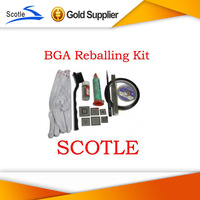 BGA Reballing Kit with 6pcs PS3 Heat Direct BGA Stencils+Other BGA Accessories