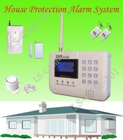 2013 Free shipping 43M LCD Screeen Home GSM Intruder Alarm System with SMS and Auto dialing alarm to the user