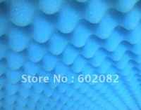 "1.3""Acoustic Egg Crate Wedge Studio Soundproofing Foam Free Shipping  32 Square feet Blue color"