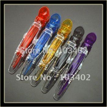 "100 X Translucent Hairdressing Hair Clip, 4.25"" New Style Hair Grip Clip, Hair Shark Clip (Assorted Color)"