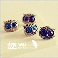 Vintage owl earrings free shipping