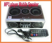Mini Sound box MP3 player Mobile Speaker boombox FM Radio SD Card reader USB SU12 - Sample  free shipping