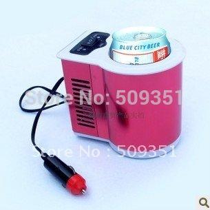 DC 12V CAR Small Auto Personal Mini Fridge Food Warmer Car Cooler 0.5-Liter PORTABLE TRAVEL COOLER New(China (Mainland))