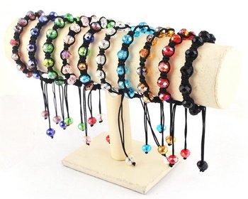 wholease mix colourful disco bracelet 10mm crystal bracelet formation bracelet SL60