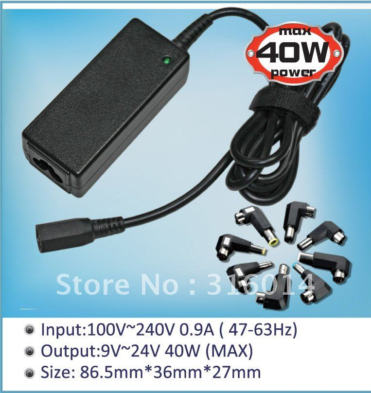 Brand replacement: 40W multifunction notebook laptop power supply For Delta 20V2A 5.5*2.5mm(China (Mainland))