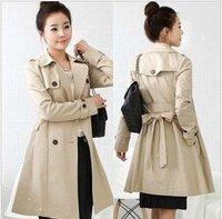 Free shipping Double Breasted Long Coat women winter overcoat Noble Warm Outerwear Winter Wholesale