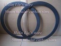 Best price and super light carbon 50mm tubular rim 20.5mm width suit for road/track bike wheels