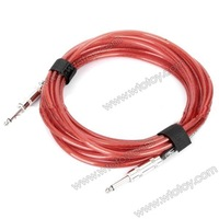 Instrument Guitar Bass Cable Cord   - Transparent Red (6m-Length) 11606