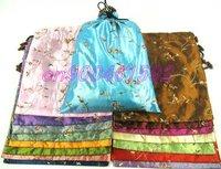 Top list shoes bags Cheap 2011 China fashion gift bag 15pcs mix Free Silk Embroidered Drawstring shoe bag pockets