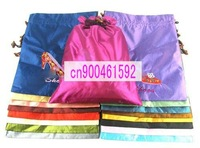 Free shipping! WHOLESALE 10PC CHINESE EMBROIDERY SILK CLOTH SHOE BAGS pocket for dust bag