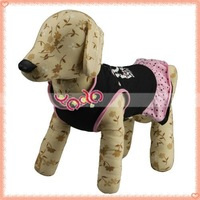 Free Shipping From USA !Dog Skirt,Printed Dress,Pet Clothes New Black M-size 15001236