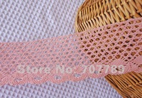 100% cotton crocheted water soluble clothing Curtain Tablecloth Wallpaper DIY part 8cm lace pink wholesale/retail