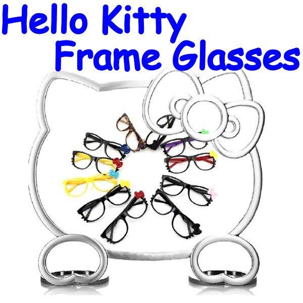 popular eyeglass frames jm6t  Cortoon Cat Frame Glasses bowknot big frame Eyeglasses Frames Eyewear  Stylish Trendy Popular 24