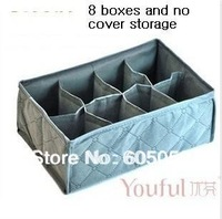 2PCS/LOT new 100% brand new Charcoal 8 grid NO covered SOCKS storage box  underwear box  UH074