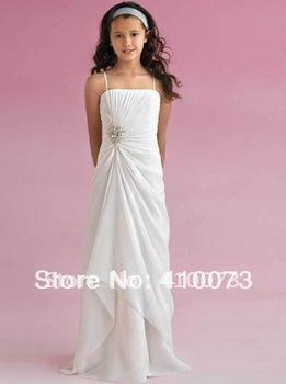 free shipping new arrival designer cheap flower girl dress