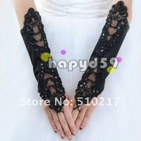45pair free ship hook finger banquet gloves satin bridesmaid bride  fingerless wedding lace gloves