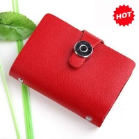 2013 Best Selling Promotion Gifts,Korea fashion Women red credit card wallet holder, With Geuine Leather,TCP015