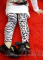 New arrival children Girls ZEBRA AB design pants trousers tights 100%COTTON embroidery Best gifts