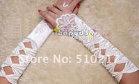195pair lace gloves fingerless banquet gloves diamond shaped hole bride gloves wedding hook finger free ship