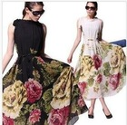 M-L free shipping  manufacturers supply new fashion women's Bohemia long dressMOQ 1PC#318-3830(China (Mainland))
