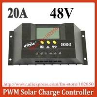 Factory outlet directly, 20A 48V,large LCD screen display  PWM solar charge controller,Automatic Temperature Compensation