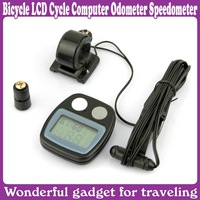 Bike Bicycle LCD Cycle Computer Odometer Speedometer New_Free Shipping