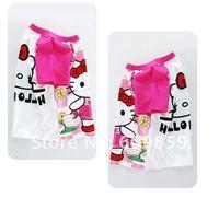 New Cartoon hello kitty girls Short sleeve T-shirt KT Children Tops Cotton baby t-shirt (18 pcs/lots)18pcs