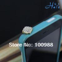 IP017 10pcs/Lot Crystal colors!Rhinestone Alloy Fashion Phone  Crystal Ladies' Mobile Phone Charm