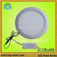 Free shipping round panel light led, 10W, 90 pcs leds, warm white, white, cool white
