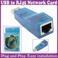 3pcs/Lot_ETHERNET 10/100 NETWORK ADAPTER USB TO LAN RJ45 CARD_Free Shipping