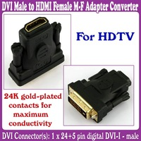 10pcs/Lot_DVI Male to HDMI Female M-F Adapter Converter for HDTV_Free Shipping