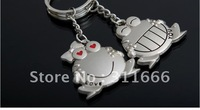 Free shipping Lovers Alloy Key chain/King holder/Key ring Hot sale frog