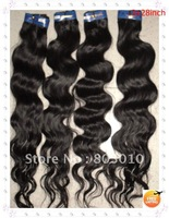 28'' 3pcs/lot Natural Wave Brazilian Remy Hair Extension color:1B,1#,2# one piece 100g wholesale 100% human hair Free shipping