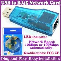 3pcs/Lot_usb network card LAN RJ45 CARD_Free Shipping