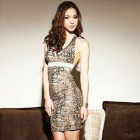 Женское платье VINTAGE HALTER NECK DRESS WITH POLKA DOT PRINT 2259