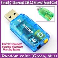10pcs/Lot_Virtual 5.1-Surround USB 2.0 External Sound Card_Free Shipping