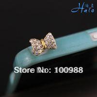 IP033!10pcs/Lot Costume Ribbon Fashion Rhinestone  Crystal Trendy Dust Plug
