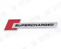 super charged Carbon fiber red 3D  Car sticker/car sticker/car logo