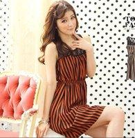 2012 New Arravial Lace Plain Color Maxi Dress