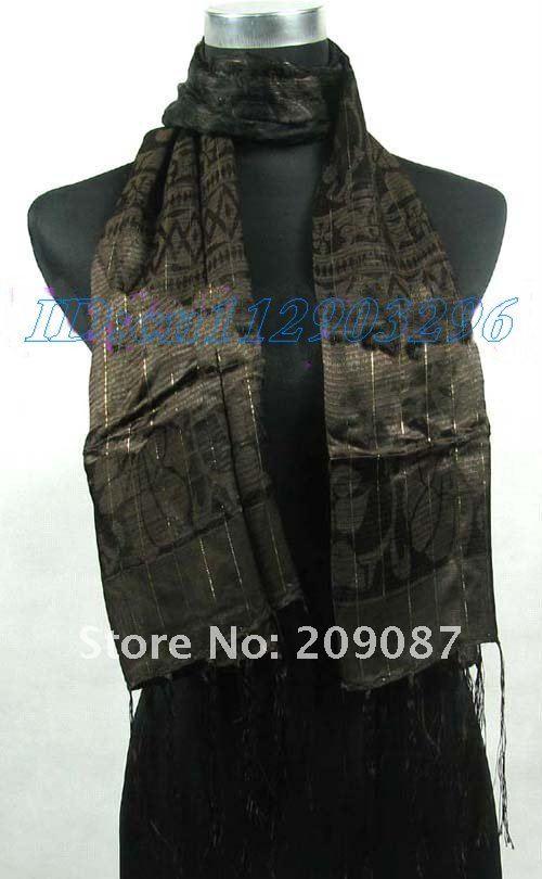 Free shipping! wholesale 30pcs Scarves Shawl Wrap Stole silk Scarf(China (Mainland))