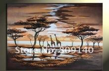 cheap giraffe painting