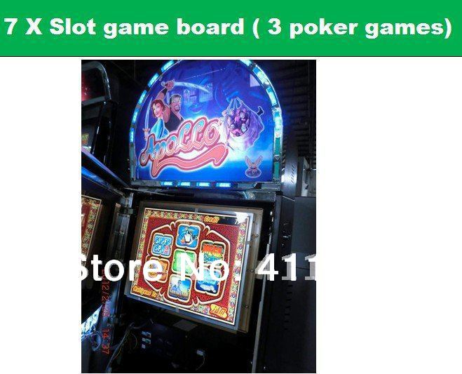 7X multigame gambling boards poker game board slot game plate PCB(China (Mainland))