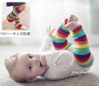 Unisex Baby girl Leg Protect Warm Leg rainbow Socks 30cm