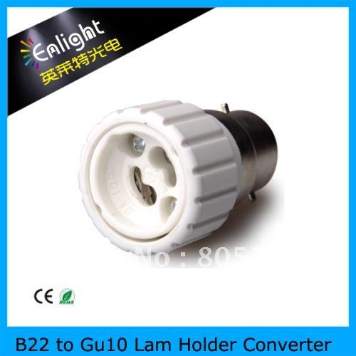 B22 to Gu10 lamp base adpater, with B22 Lamp base, GU10 lamp holder, Lamp holder converter, CE Rohs(China (Mainland))