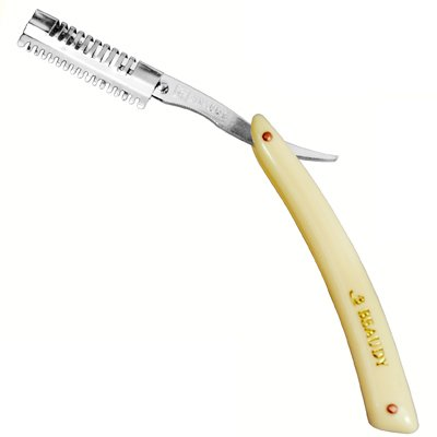 ... Shaving Straight Razor w/ Feather Single Edge Blade & Hair Shaper
