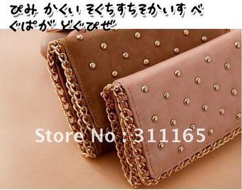 Free shipping 3pcs/lot high quality PU wallet,lady purse,fashion PU handbag,leather wallet bag(LDQB)