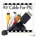 100% NEW Component AV Audio Video HDTV Cable for Sony PS2 PS3 5 piece/lot  Free shipping