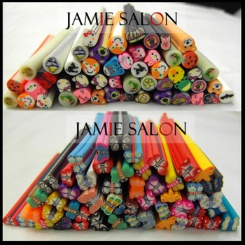 500pcs canes polymer clay nail art Stickers cane fruit and flower Cutted #z26